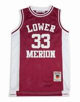 Kobe Bryant Lower Merion Maroon And White High School Basketball Jersey