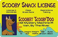 SCOOBY DOO -  Scooby Snack License - MYSTERY MACHINE SCOOBY GANG fans