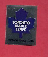 RARE 1987 TORONTO MAPLE LEAFS LOGO FOIL STICKER CARD
