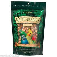 LARGER:  LAFEBER NUTRIBERRIES TROPICAL FRUIT 300G-COCKATIEL FOOD/ ULTIMATE TREAT