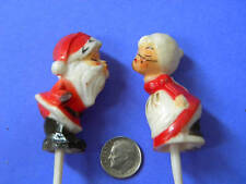 VINTAGE,COLLECTIBLE, MINI, Mr. & Mrs. CLAUS, Hong Kong