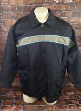 Quicksilver Windbreak Surfer Beachwear Jacket Lightweight Men Size Large Black