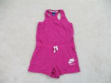 Nike Romper Womens Medium Pink White Tennis Sleeveless Jumpsuit Casual Ladies