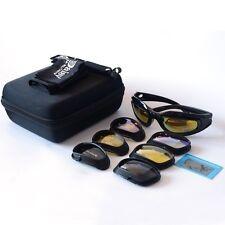 d1878726f55 4 Lenses Military Daisy C5 Polarized Goggles Hunting Sunglasses Desert Storm