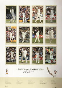 Michael Vaughan - England's Ashes 2005 - Hand Signed Limited Edition Photo COA