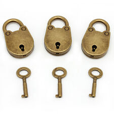 1Set Vintage Antique Style Mini Archaize Padlocks Key Lock With key (Lot Of 3)