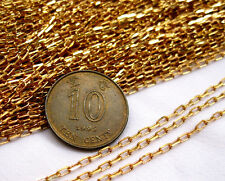 Mini 1mm Chain Raw Brass Closed Link Jewelry Findings Wholesale bc019 (10ft)