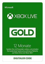 - Xbox One 360 Live Gold Mitgliedschaft 12 Monate --
