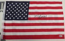 Kevin Nash Signed 12x18 American Flag BAS Beckett COA WWE NWO USA US Autograph