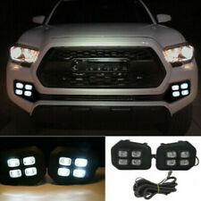 Fit For 2016-2018 Toyota Tacoma 4-Eyes Style Drl Led Clear Fog lights Lamps