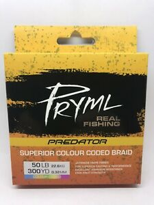 Braid Fishing Line 50lb - Pryml Japanese Hmpe Colour Coded Line