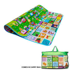 2 Side Kids crawling EDUCATIVI GIOCO Tappetino in Schiuma Morbida Picnic Tappeto 200X180CM