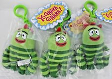 SET OF 3 Yo Gabba Gabba Plush BROBEE Clip-On Plush Toy Wildbrain Nick Jr. NEW