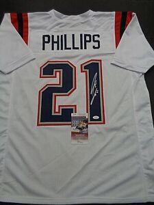Adrian Phillips New England Patriots Autographed Custom Style Jersey COA=JSA-