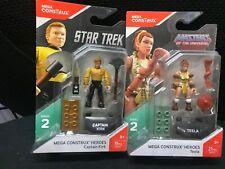 Mega Construx Heroes:Captain Kirk& teela MASTERS OF THE UNIVERSE SERIES