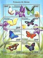 CENTRAL AFRICA 1999 tropical BUTTERFLIES m/s1 SC#1296 MNH INSECTS