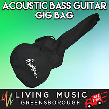 New Martinez Acoustic Bass Guitar Gig Bag Black