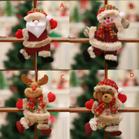 1PC Christmas Ornaments Santa Claus Snowman Reindeer Toy Doll Hang XMAS Decor