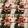 1PC Christmas Ornaments Santa Claus Snowman Reindeer Toy Doll Hang XMAS Decor