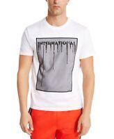 INC Mens T-Shirt Black White Size 2XL Embellished Tee Sequin Mesh $39 #165