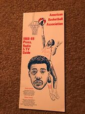 1968 ABA Media Press Guide Connie Hawkins American Basketball Association