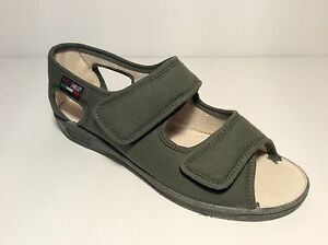 GAVIGA FALCO 180 pantofola sandalo DONNA tessuto gomma velcri comoda  col safari