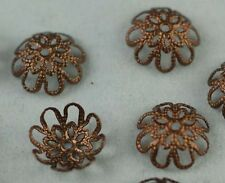 Fashion 200Pcs Wholesale Copper Plated Flower Bead Caps Jewelry Findings 10mm