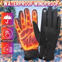 Motorcycle Gloves Winter Warm Outdoor Sport Waterproof Windproof Touch Unisex