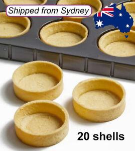 MEDIUM Round Sweet Tart Shells Tray Dessert Buffet Party 5.5cm (20pc) Just Fill