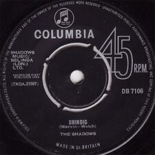 "7"" 45RPM Shindig/It's Been A Blue Day by The Shadows from Columbia (DB 7106)"