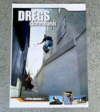 Skateboard Poster 2002 Dregs Skateboards 2 Sided Decks Gear Portrait Style