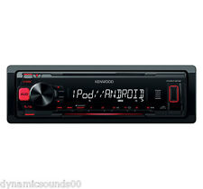 Kenwood KMM-202 Digital Media Receiver Car MP3 Stereo Aux, USB - REFURB