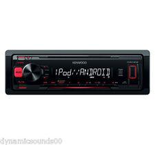 Receptor de medios digitales Kenwood KMM-202 coche MP3 Estéreo Aux, Usb-Restaurada
