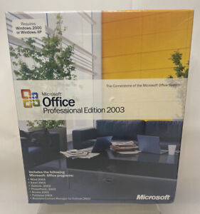Microsoft Office Professional 2003 - Old Version (269-07387) New Sealed NOS