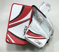SPECIAL New ice hockey goalie blocker catcher intermediate Reebok Premier set
