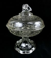 """1864-1880s EAPG Compote Candy Dish~ """"New York Honeycomb"""" w/ Acorn Finial ~ McKee"""