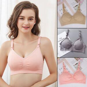 Maternity Seamless Bra Pregnant Women Breast Feeding Open Button Underwear UK