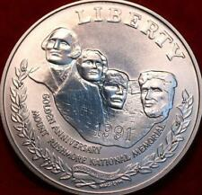 Uncirculated 1991 Mt. Rushmore Comm Silver Dollar