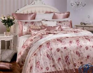 New Exclusive PRIVATE COLLECTION CASSANDRA TEA ROSE QUEEN Quilt Doona Cover Set