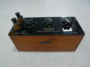 Capacitor Box Muirhead B-21-F Decade Condenser Lab Apparatus 378378