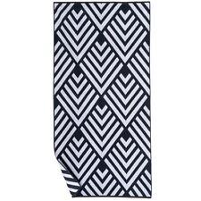 "The Big One Reversible Quick Drying Black Diamond Beach Towel 34"" W X 68"" L"