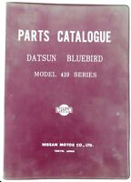 .RARE DATSUN BLUEBIRD 410 OFFICIAL PARTS CATALOGUE, 100s PAGES. SUPERB REFERENCE