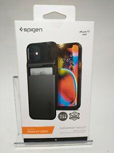 "Spigen Slim Armor Wallet Card Case for Apple iPhone 12 Mini 5.4""(Gunmetal)"