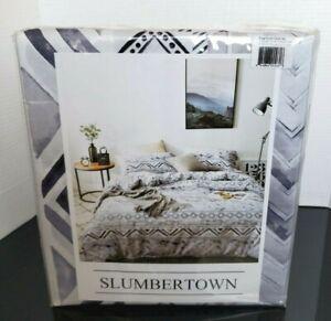 Slumbertown 300Thread Count Egyptian Cotton King Duvet Cover Set New