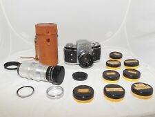 Vintage Exakta VX 35mm slr film camera with 35mm & 135mm lenses.