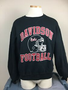 Vintage Russell Davidson College Wildcats Sweatshirt Adult Size L