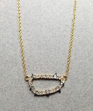 NEW! Alexis Bittar Swarovski Crystal Encrusted Princess Pendant Necklace