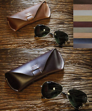 sunglasses bag Eyeglass Case spectacles glasses cow Leather Customize brown A528