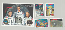 Antigua #1255-1259 Apollo 11, Space, 4v. & 1v. s/s imperf proofs