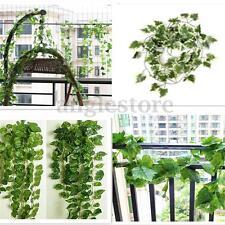 6.56ft Artificial White Grape Leaf Garland Plants Vine Foliage Flower Home Decor